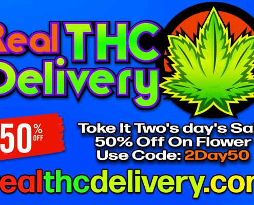 Toke It Two's day's Sale 50% Off On Flower Use Code: 2Day50